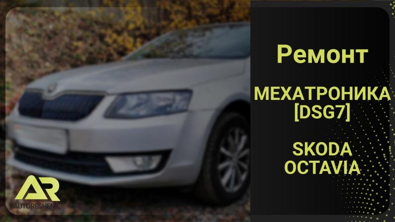 наша работа: ремонт мехатроника ДСГ 7 автомобиля Шкода Октавия 2013 Tsi 1.4